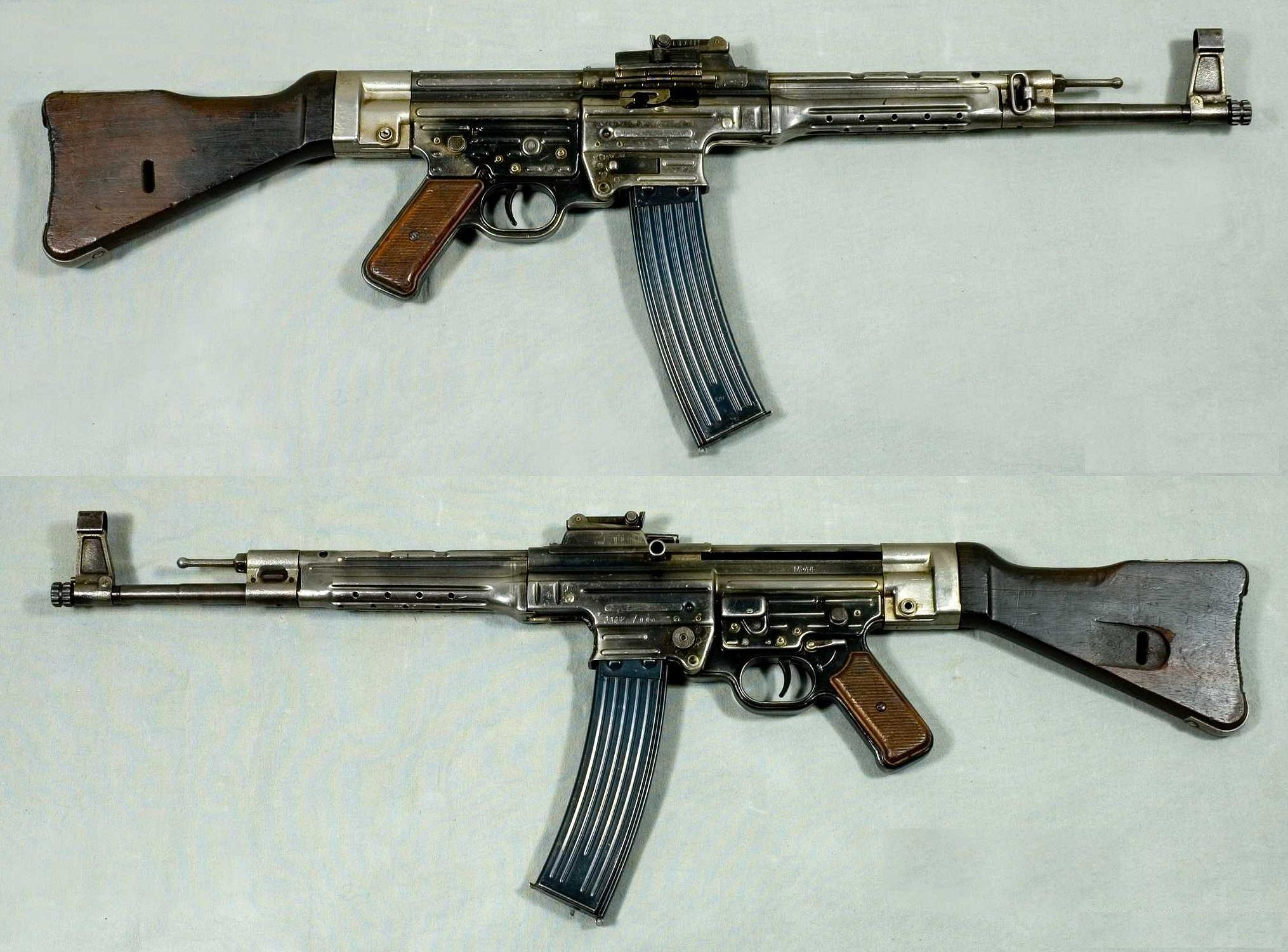 "The STG 44/MP44 ""assault rifle"" or Sturmgewehr."