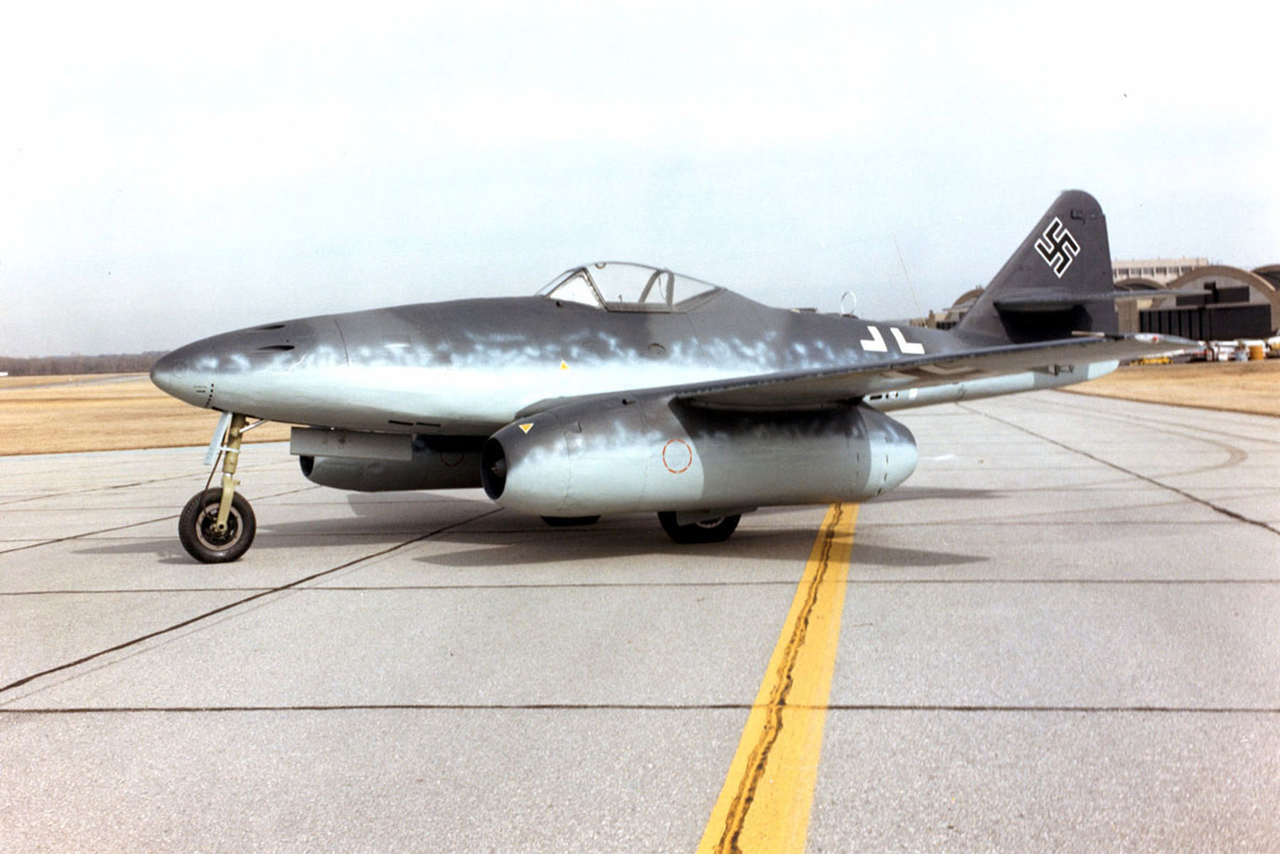 The Me 262, the Nazi jet fighter that appeared too late in the war to save the Nazis, but which gave the Soviet Union it's start in building a jet fighter.