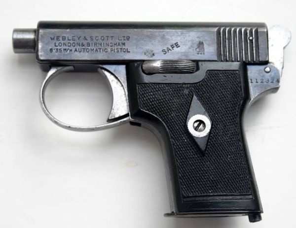Webley and Scott automatic pistol in 25ACP