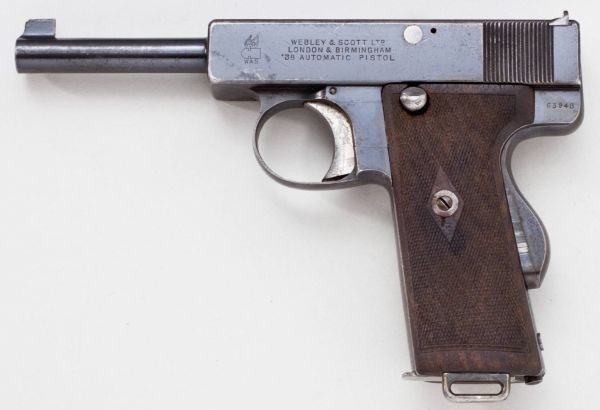 Webley and Scott Mk I in 38ACP  (Image courtesy of http://www.world.guns.ru)