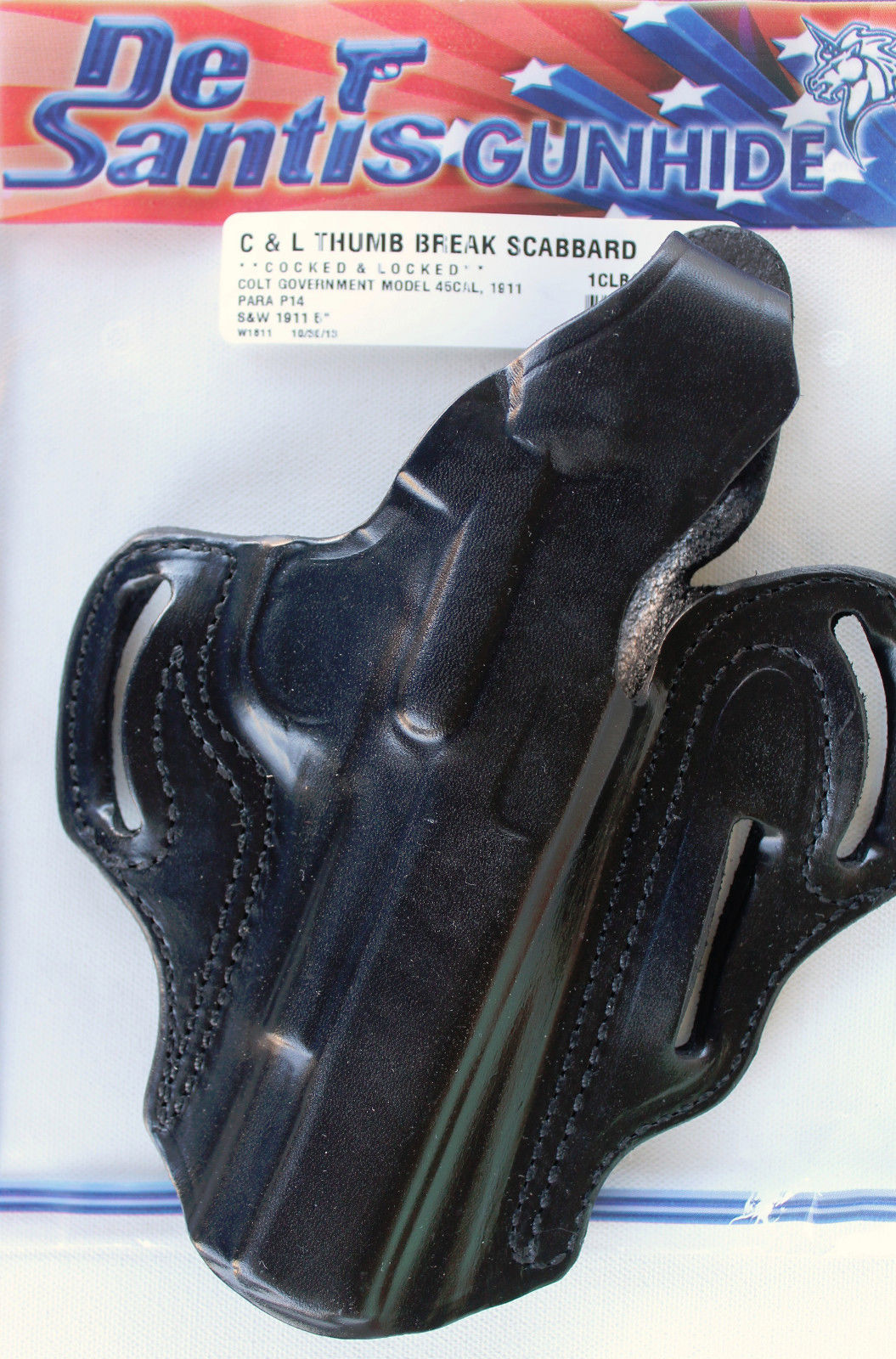 "DeSantis 1CL holster specifically designed for Condition 1 ""Cocked and Locked"" carry. (Picture courtesy of jdholsters.com)"