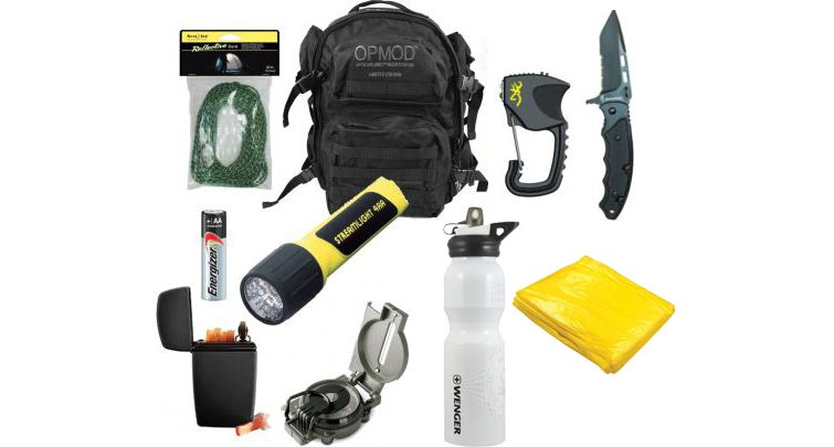 """The """"Just the Basics Bug Out Bag"""" from Optics Planet."""