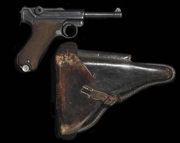 DWM Model 1920 rework parabellum pistol with associated holster