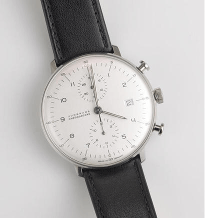 Max Bill automatic chronoscope watch by Junghans, Germany