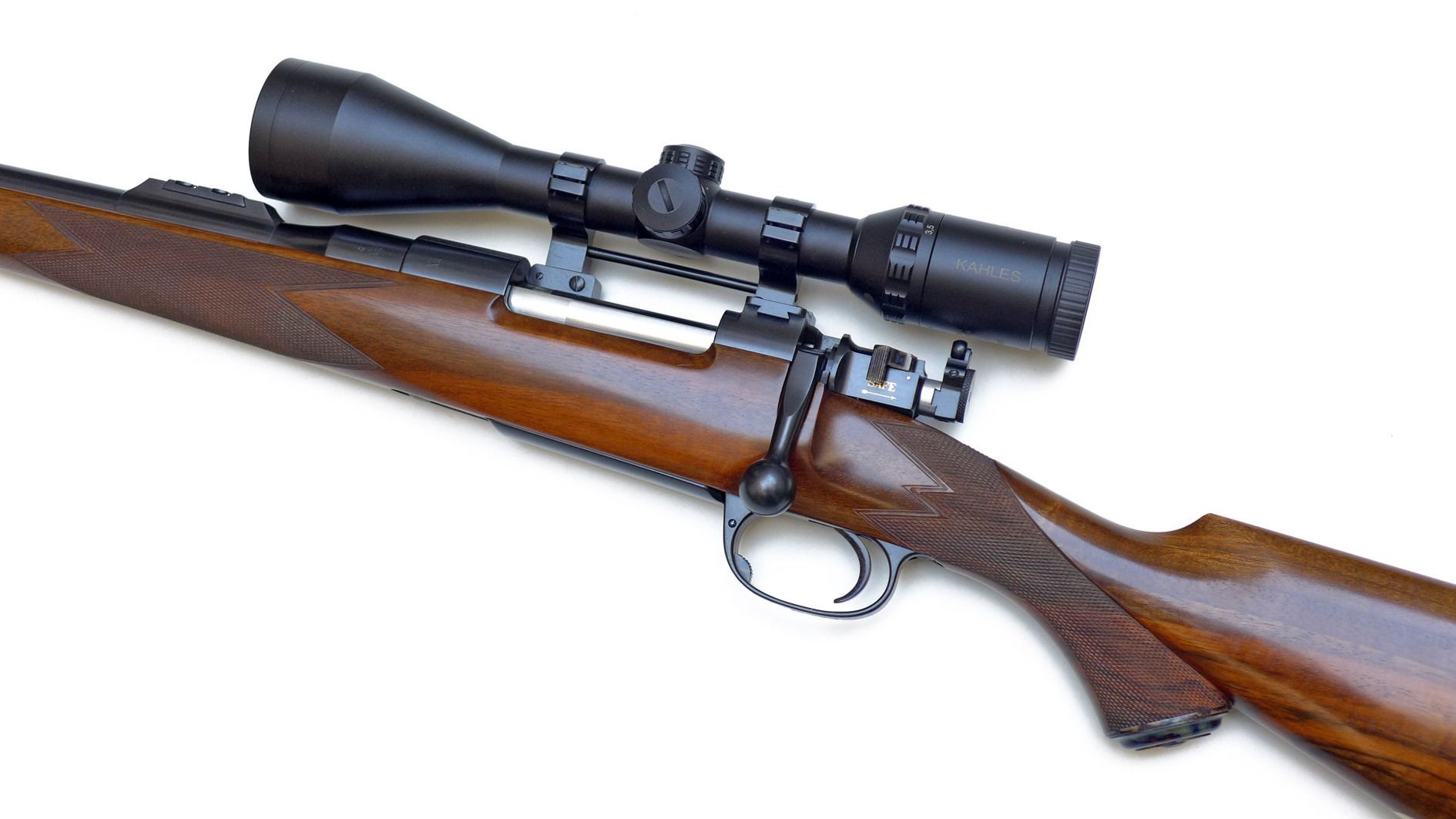 Kahles scope on a 275 Rigby rifle. (picture courtesy of africahunting.com)