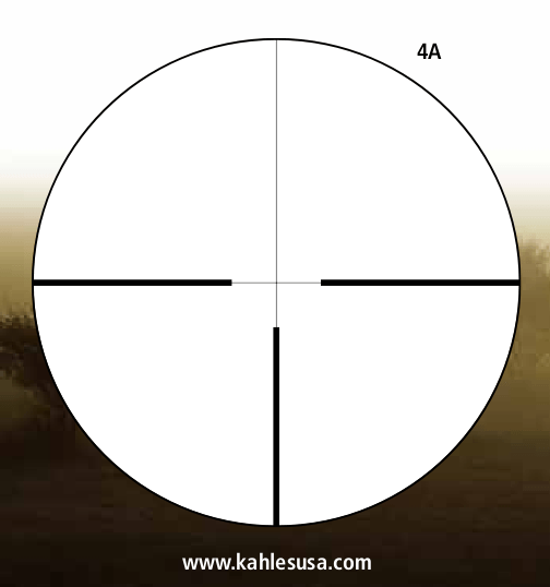 The 4A reticle used in the Helia C 2.5-10x50mm