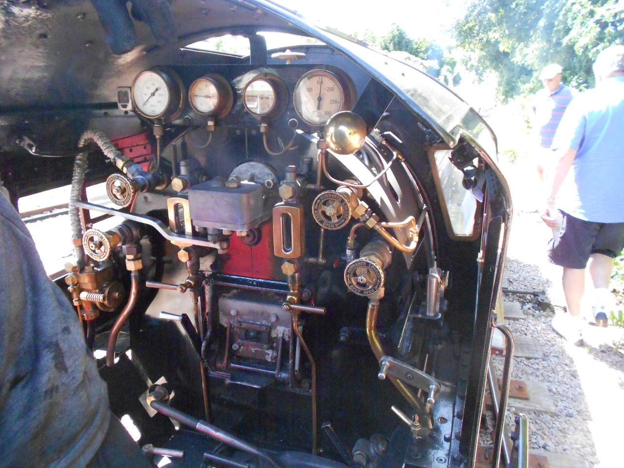 """The """"dashboard"""" of """"Winston Churchill"""". If you do the Drive the Train experience you will learn what all those gauges and controls are for."""