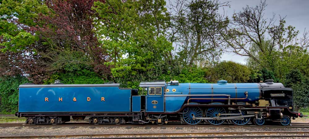Hurricane, one of the prettiest locomotives of the RH&DR. (photo courtesy of rhdr.org.uk).