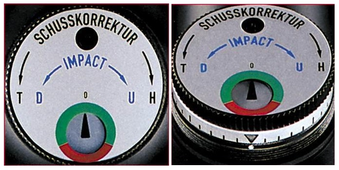 The Posicon display in the windage and elevation turrets of the Schmidt and Bender Zenith series.