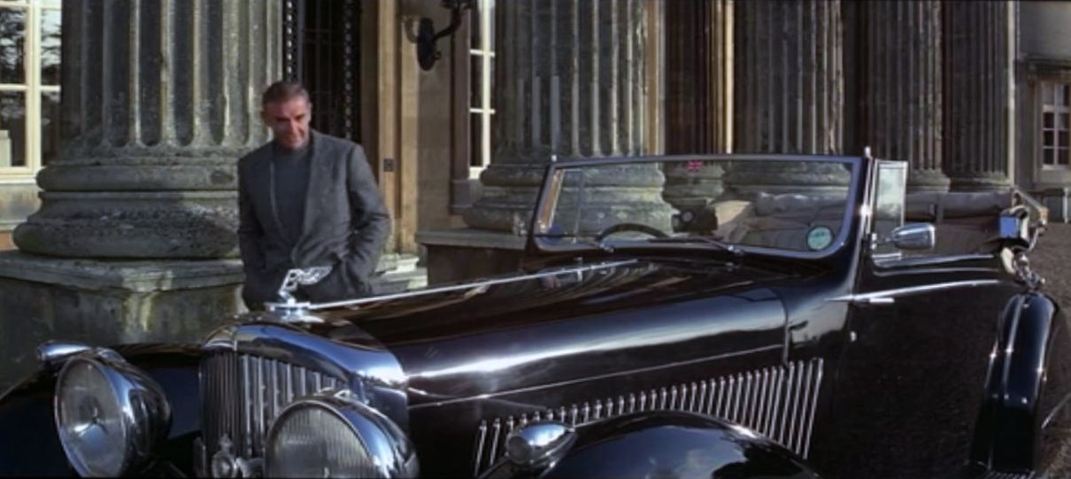 "James Bond with his 1937 Bentley 4½ Litre Gurney Nutting 3-Position-Drophead Coupé in the movie ""Never Say Never Again""."