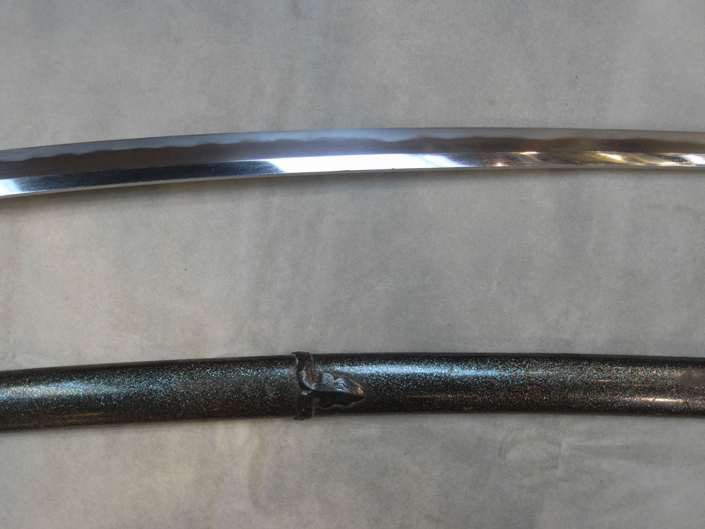 Mid portion of blade.