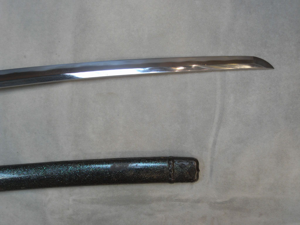Front section of blade and kissaki.
