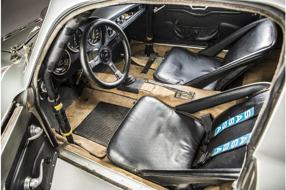 "The cockpit of the 1961 Fiat Abarth 1000 Bialbero. This really is a ""Boys Own"" racer."