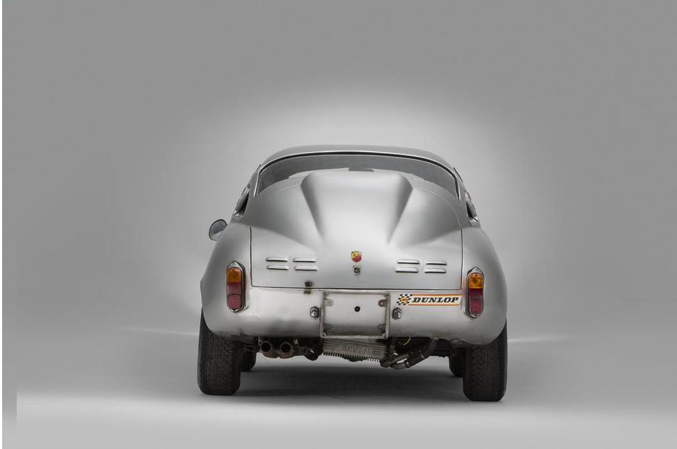The view that most people get of a Fiat Abarth 1000 Bialbero.