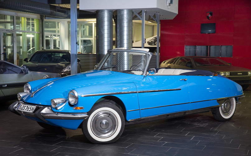 The 1965 Citroën DS19 Cabriolet coming up for sale at Bonhams Les Grandes Marques du Monde au Grand Palais auction on 5th February in Paris; quite apposite.
