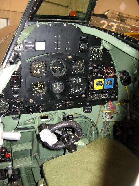 "The ""driver's seat"" and ""dashboard"" of the Mark XVIII Spitfire. It has that special something that a Bugatti Veyron just doesn't."