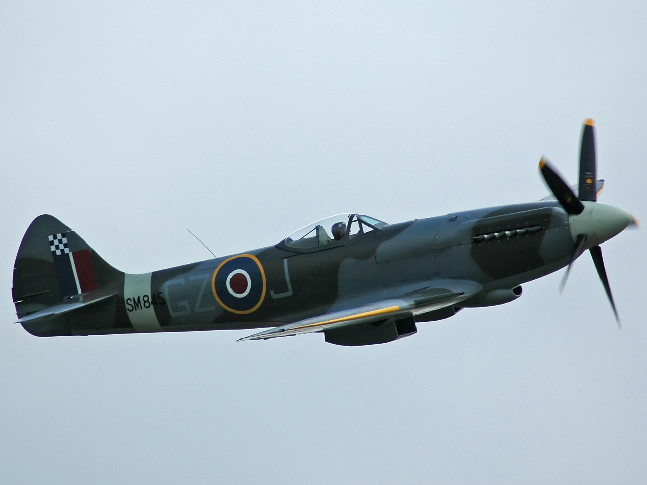 A Rolls Royce Griffon engined Mark XVIII Spitfire.