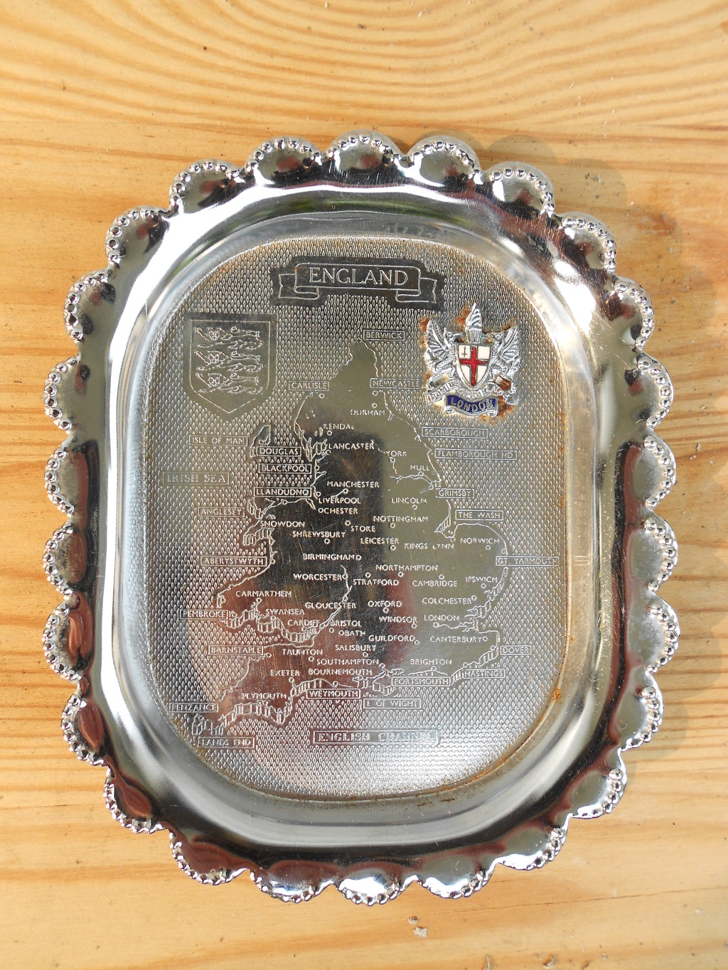 """Author's ash-tray. A gift from one of my sons and a reminder of """"The Old Country""""."""