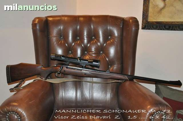 A beautiful Mannlicher-Schönauer M72 Model S chambered for the 9.3x64 Brenneke offered for sale on milanuncios.com recently.
