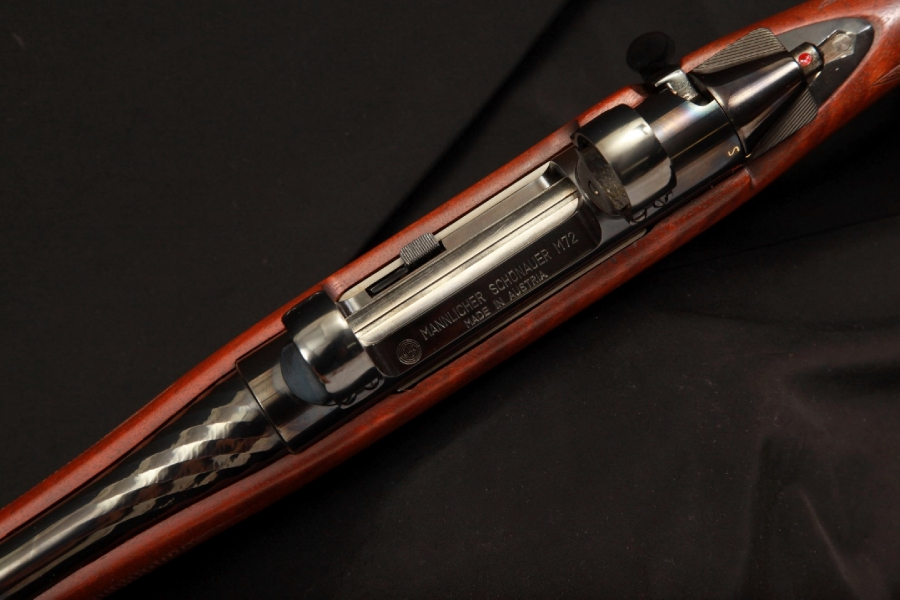 "Top view of an M72 showing the ""licorice twist"" effect on the outside of the hammer forged barrel."