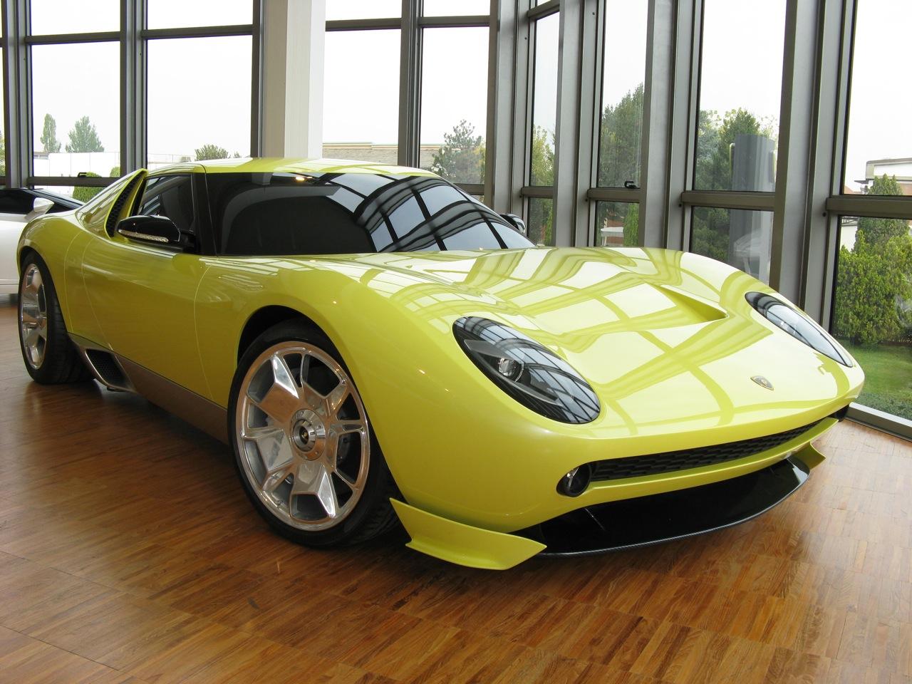 The 2006 Lamborghini Muira concept car.