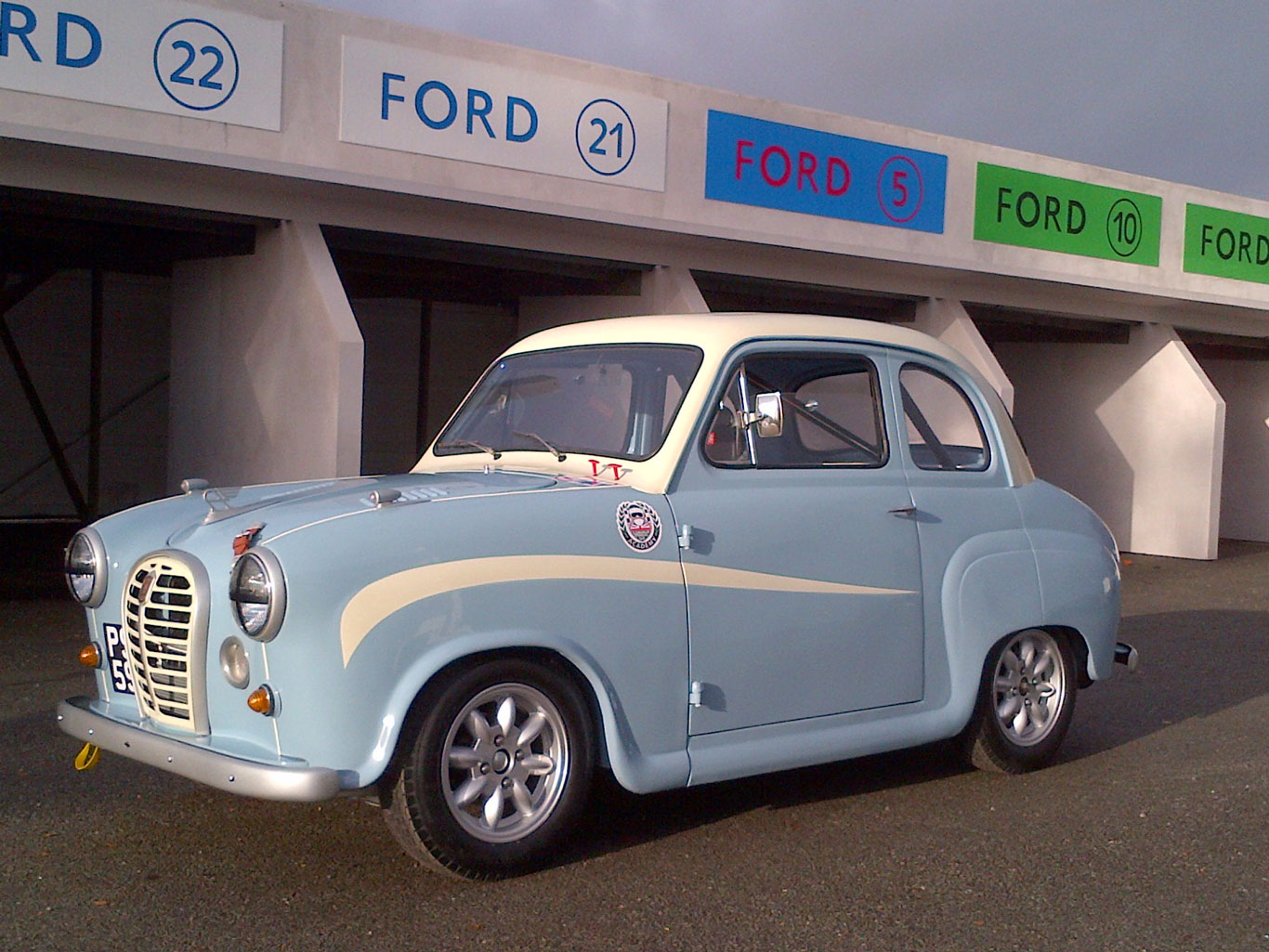 An Austin A35 prepared for HRDC Academy racing. It might not be a Ferrari, but it is a recipe for fun on for wheels.