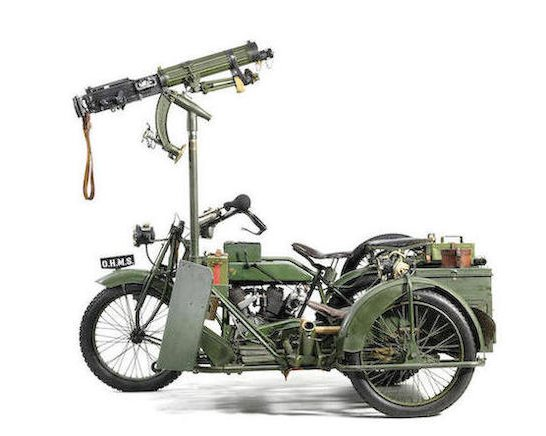 1916-17 Matchless-Vickers 8B2-M Russian Military Motorcycle Combination2