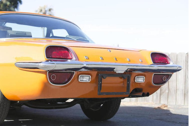 The rear of the Cosmos is quite American, perhaps like something you'd expect on a Ford Thunderbird or similar.