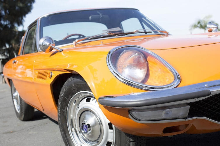 The front of the car has just a hint of Jaguar E Type.