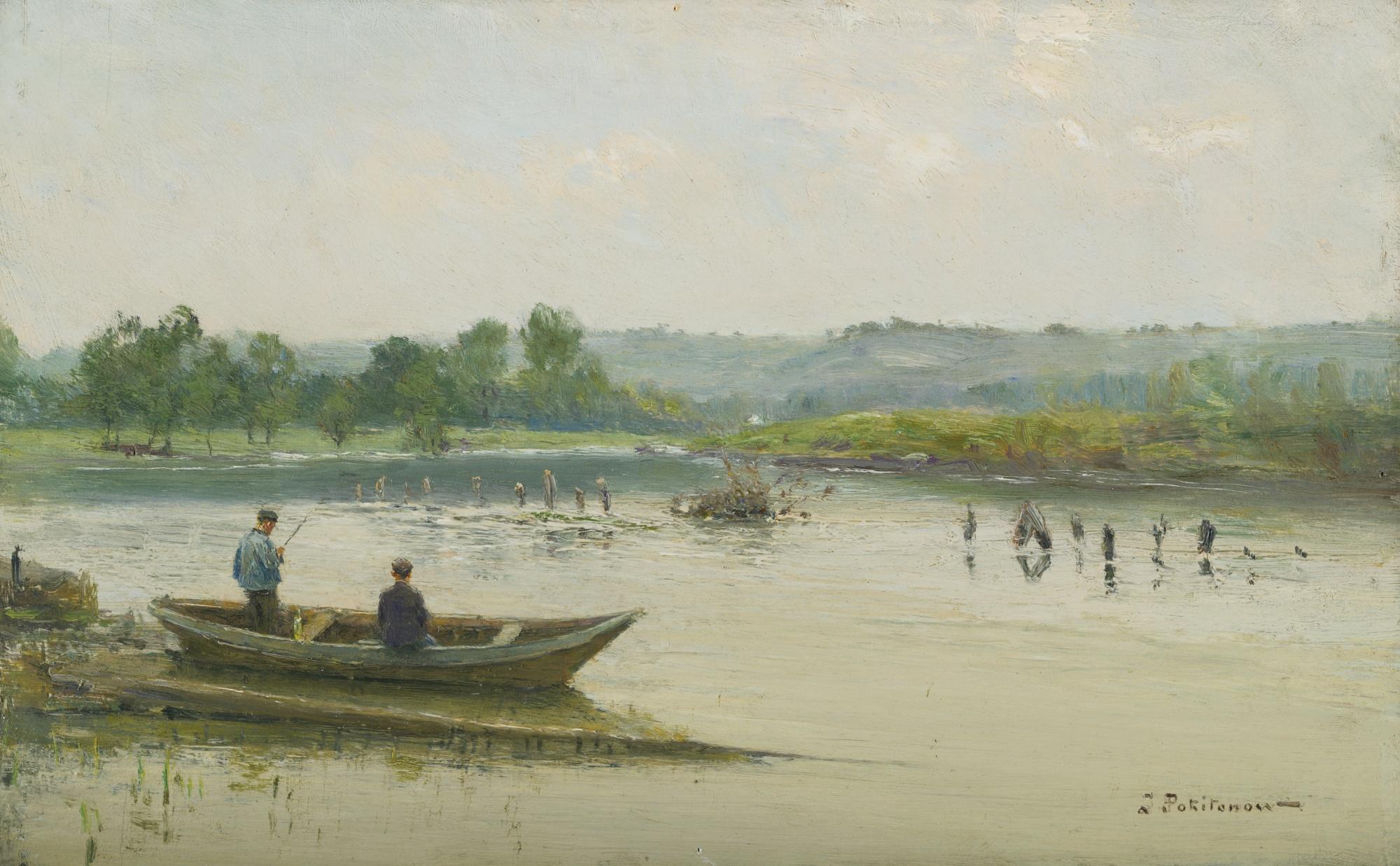 Fishermen Near Liége by Ivan Pavlovich Pokhitonov