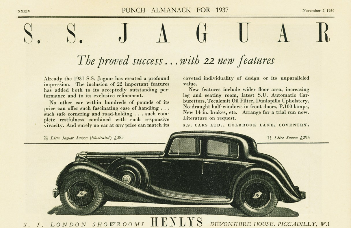 Original SS Jaguar advertisement of 1937.