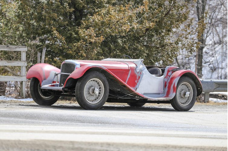 The SS100 being offered at auction.