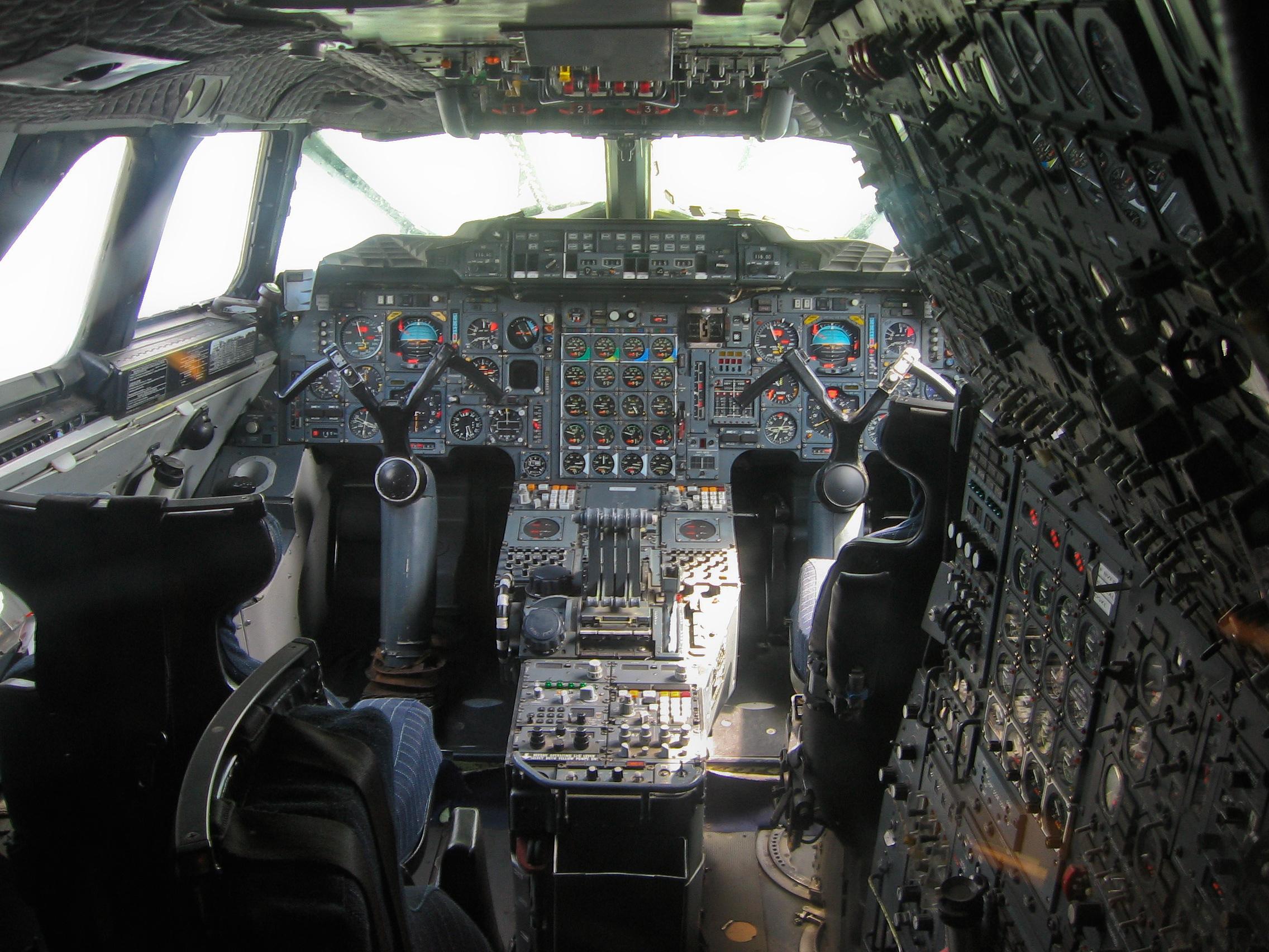 The Concorde flight deck.