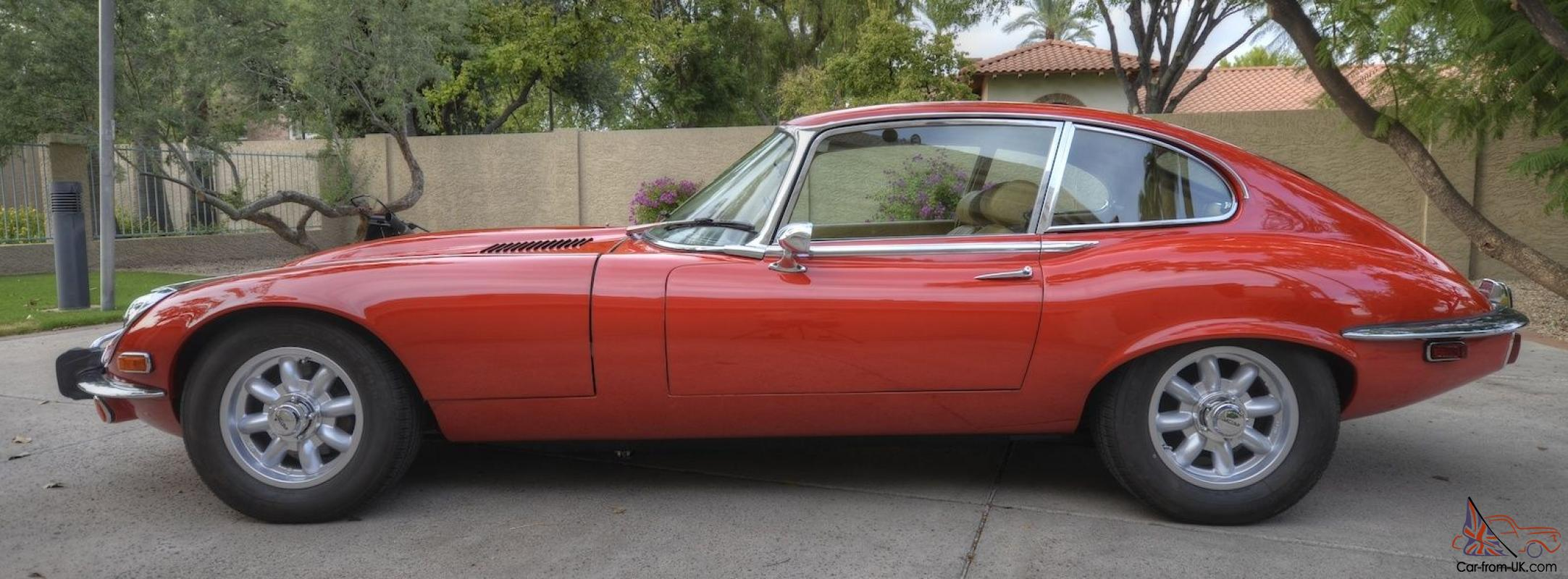 A 1969 Jaguar E-type 2+2 Coupé. Author's personal favourite of all the E-type iterations. The Minilites are preferred over the traditional wire wheels. (Picture courtesy of Ebay)