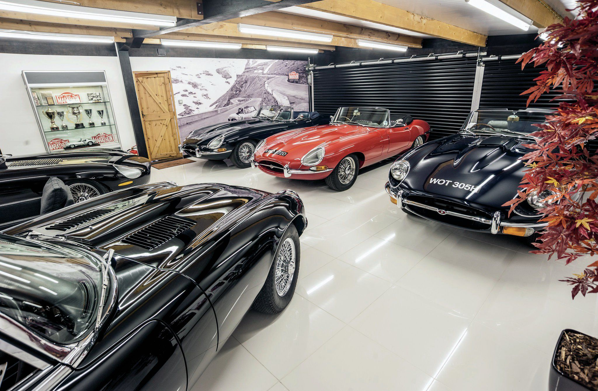 The showroom a Eagle. Every car is, in reality, a fully restored Jaguar. (Picture courtesy of superstreetonline.com)