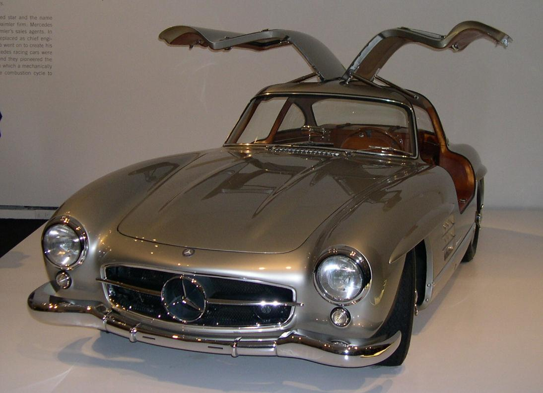 "The original ""Gull-wing"" Mercedes-Benz 300 SL coupe."