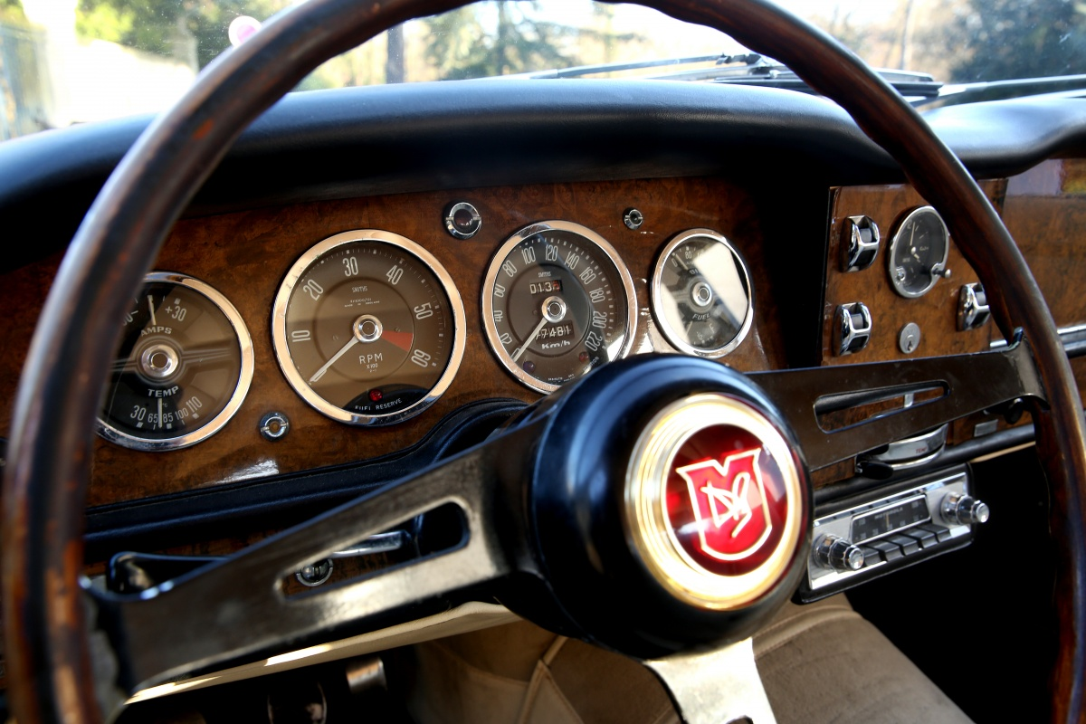 The dashboard of a 1963 Lagonda Rapide. The sort of dashboard that a member of the Institute of Advanced Motorists looks for and appreciates. (Picture courtesy of classicdriver.com)