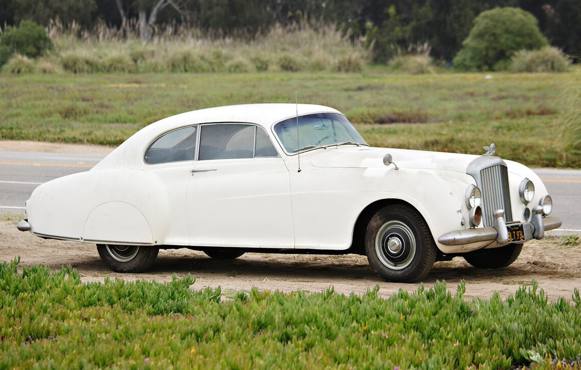 No longer painted battleship grey this, the inspiration for James Bond's real car is in much need of restoration.