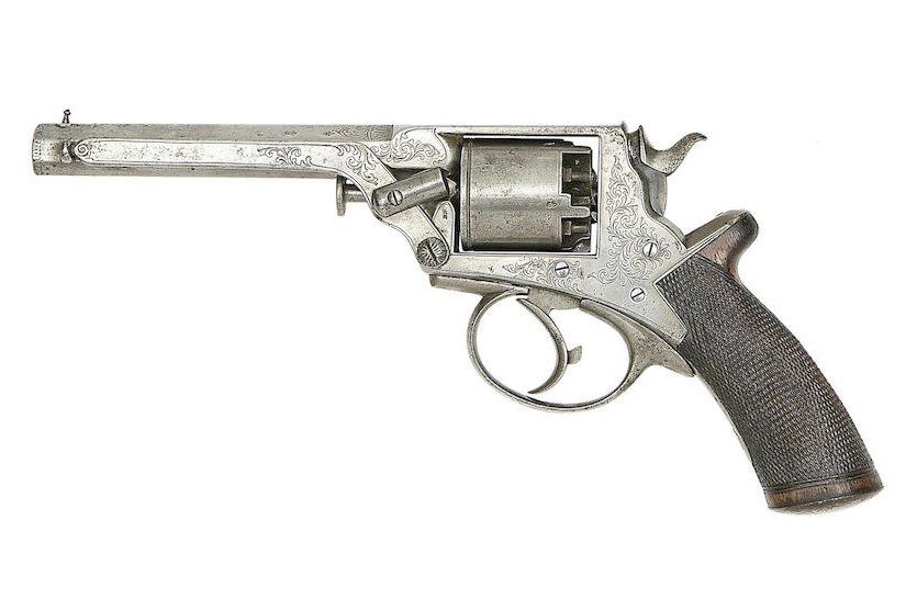 The 54 Bore Tranter Patent revolver coming up for sale by Bonhams.