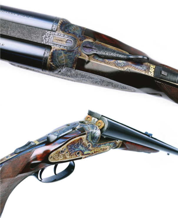 The Rising Bite double rifle from Rigby, back in production after 82 years. (Picture courtesy of Rigby).