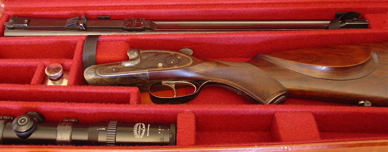 A 1938 James Purdey and Sons self opening double rifle in 300 Holland and Holland Magnum. This rifle can be found for sale at http://www.schwandtclassicarms.com/purdey1.htm (Picture courtesy of schwandtclassicarms.com).
