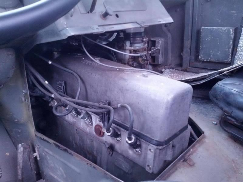 Its even possible to change the spark plugs from the cab.