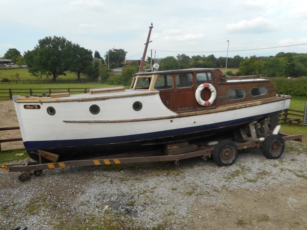 The high bow and general profile of this boat mean it should be suitable for off shore sailing as well as river use.