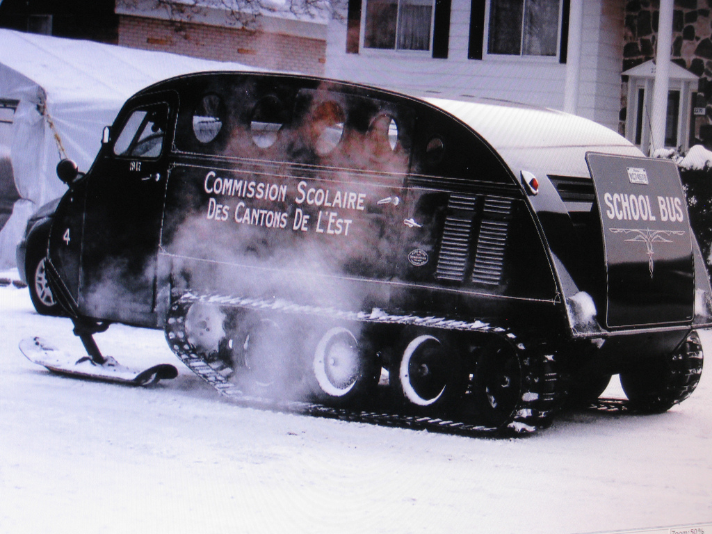 A Bombardier Snowmobile School Bus; just as well for Bart Simpson that his school did not have one of these. (Picture courtesy of flickr.com)