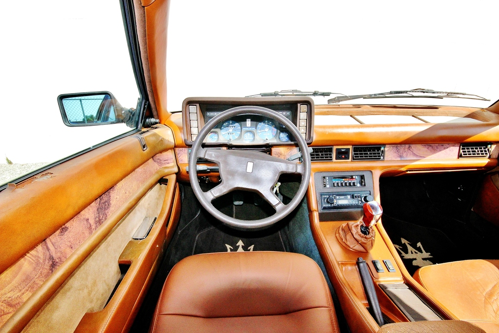 Yes, the upholstery has some holes in it, but the cockpit is something an enthusiast will love. (picture courtesy E-bay)