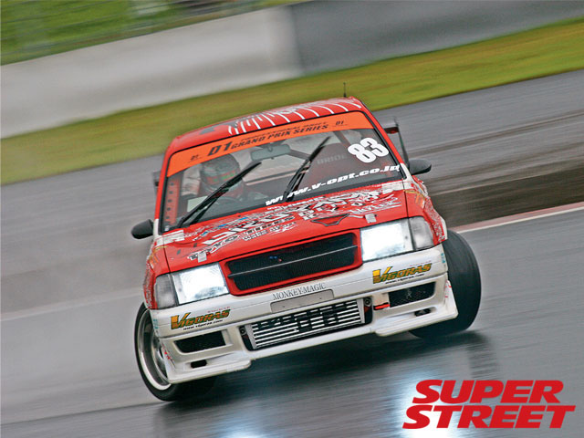 A Toyota Crown Comfort GT-Z being used in drifting competition. (picture courtesy superstreetonline.com)