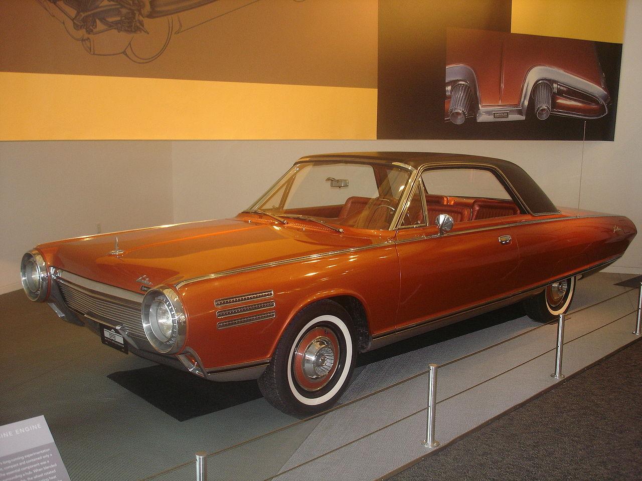 "Crysler's Tequila slurping gas turbine car ""The Bronze Blowtorch"" (Picture courtesy Wikipedia)."