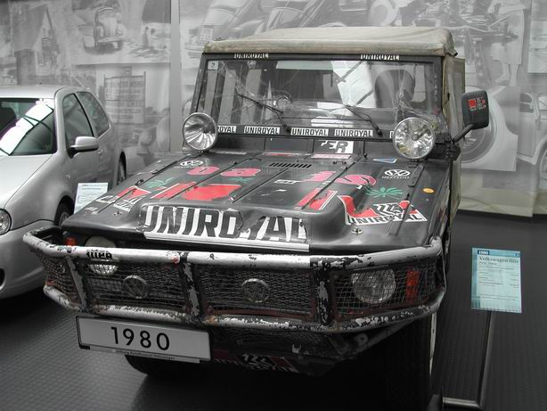 Audi prepared VW Iltis, winner of the 1980 Paris to Dakar Rally. (Picture courtesy Wikipedia).