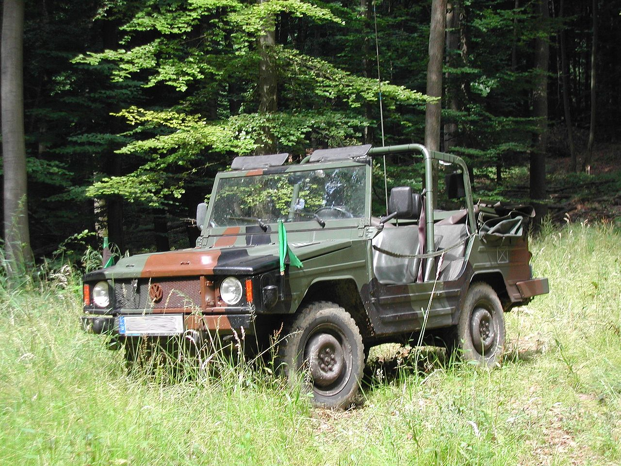 The VW Iltis in military trim. (Picture courtesy Wikipedia).
