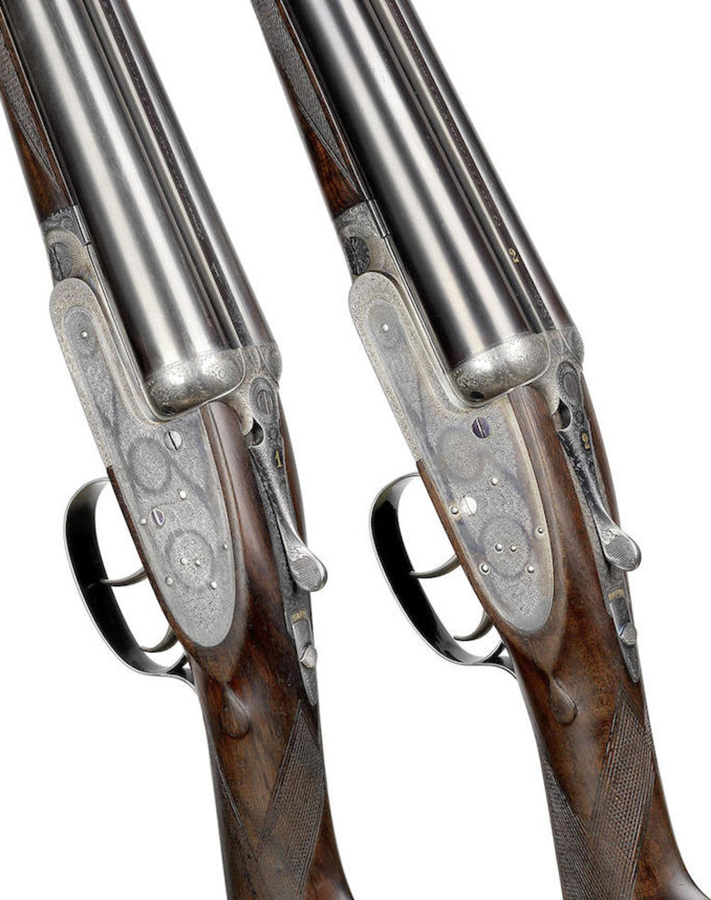 A fine pair of 12-bore self-opening sidelock ejector guns by J. Purdey & Sons, no. 25584-5